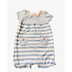 Carter's Blue and Pink Toddler Girl Romper